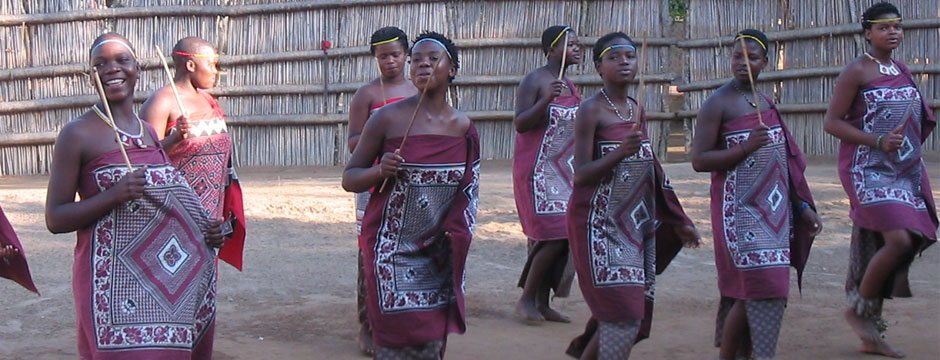 Female Dancers at Mantenga Cultural Village, Swaziland